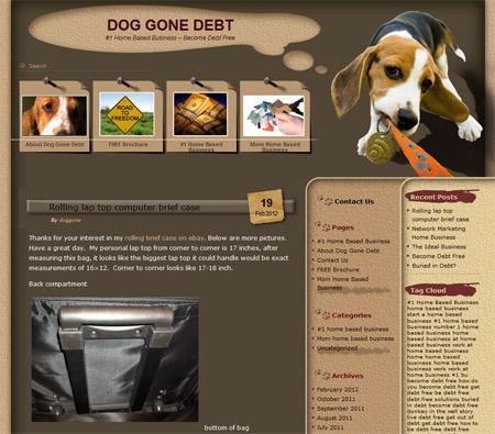 DogGoneDebt.com Screenshot
