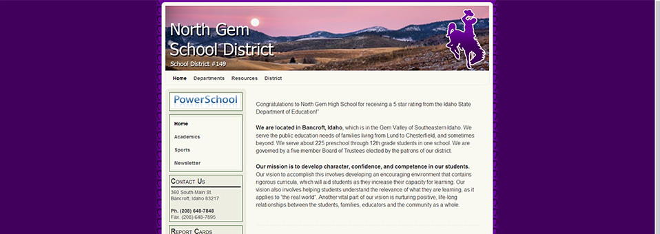 Website: North Gem School District